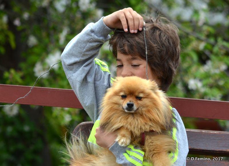 Little boy and his dog (Nesebar, Bulgaria, 2017)