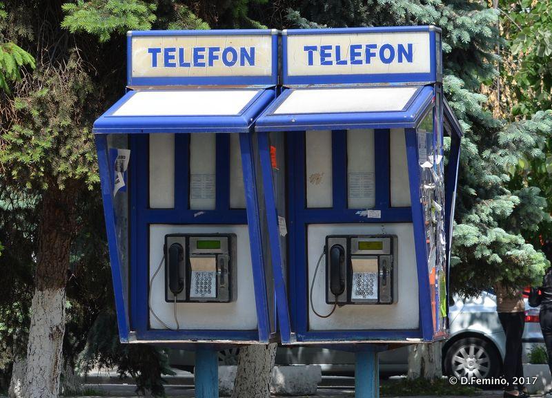 Telephone boxes (Chișinău, Moldova, 2017)