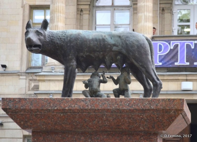 Capitoline wolf more than 1.000 km from Rome (Chișinău, Moldova, 2017)