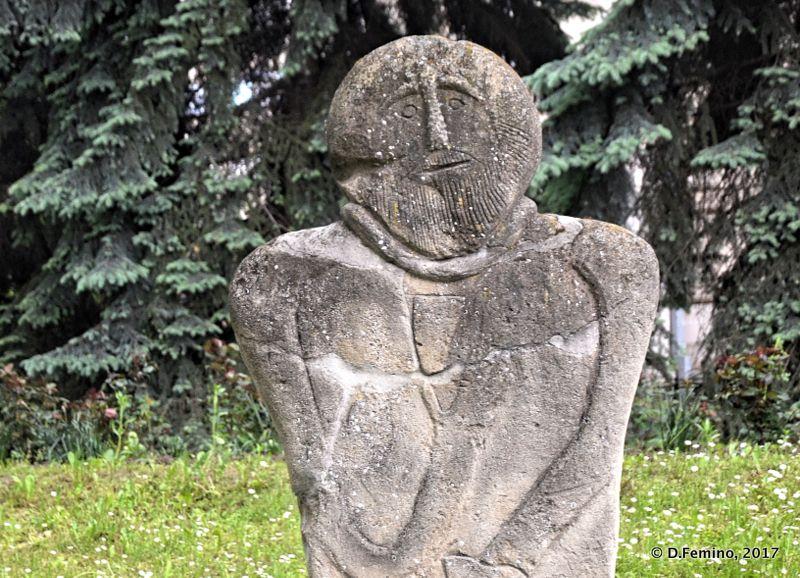 Statue Menhir in museum's garden (Chișinău, Moldova, 2017)