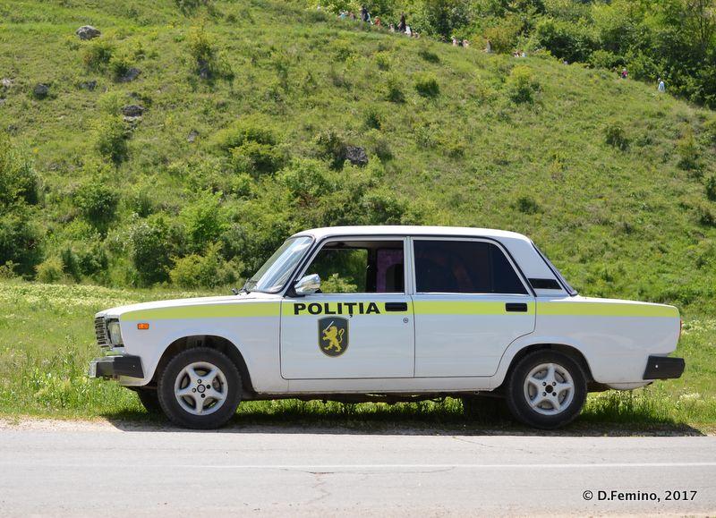 Police car (Orheiul Vechi, Moldova, 2017)