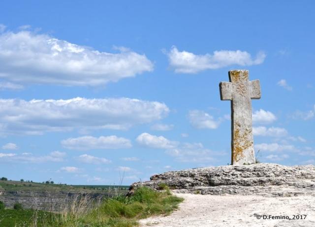 Cross in the monastery (Orheiul Vechi, Moldova, 2017)