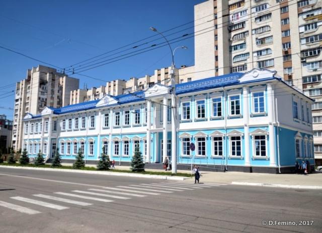 Hospital with nice shades of blue (Tiraspol, Trasnistria, 2017)