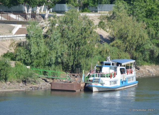 Boat on river Dniester (Tiraspol, Trasnistria, 2017)