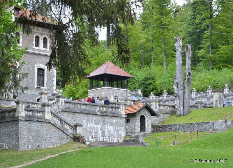View of the castle (Cantacuzino Castle, Romania, 2017)