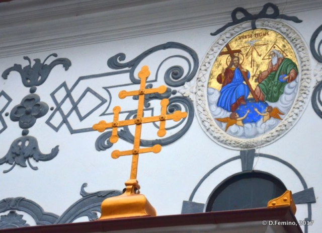 Cross on the Orthodox church (Brașov, Romania, 2017)