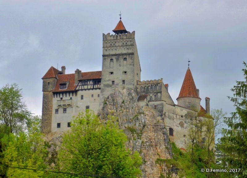 View of the castle (Bran, Romania, 2017)