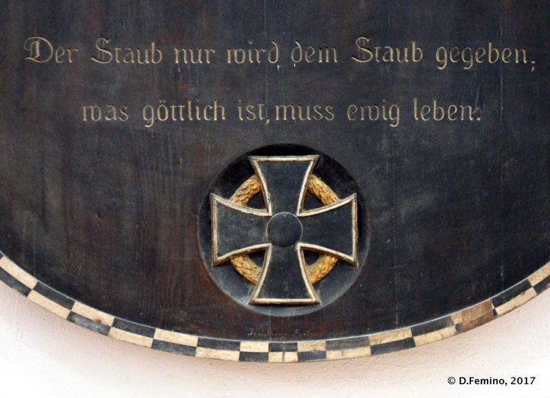 German inscription from Freiprotestantischer katechismus (Prejmer, Romania, 2017)