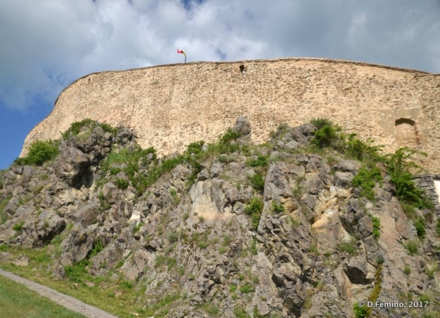 Walls of the citadel (Rupea, Romania, 2017)