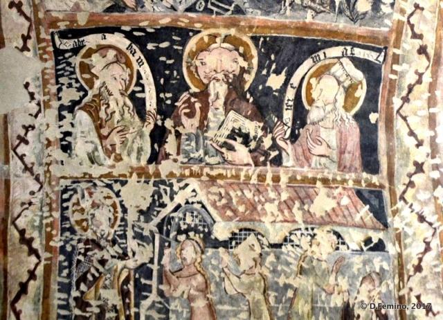 Ruined frescos in the cathedral (Sighișoara, Romania, 2017)