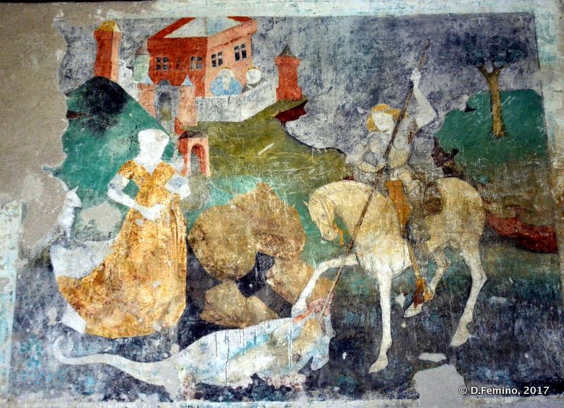 Frescos in the cathedral (Sighișoara, Romania, 2017)