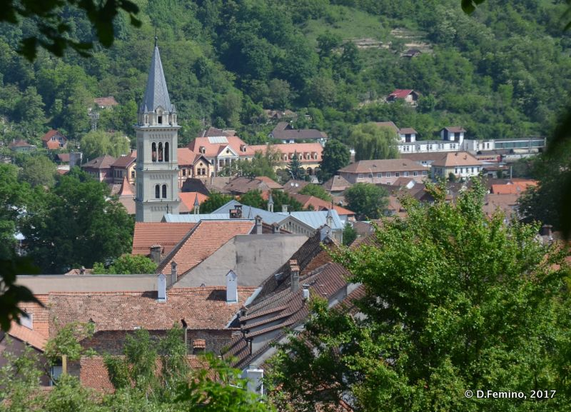 View of the town (Sighișoara, Romania, 2017)