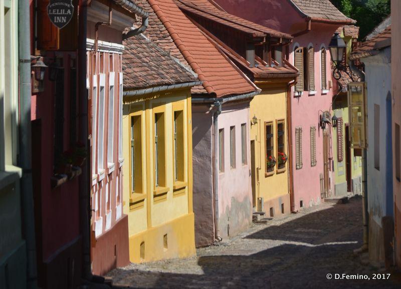 Pastel colour houses (Sighișoara, Romania, 2017)