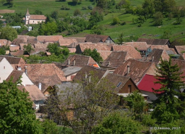 View of village from citadel (Biertan, Romania, 2017)