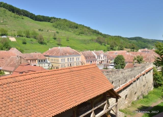 Walls of citadel and town (Biertan, Romania, 2017)
