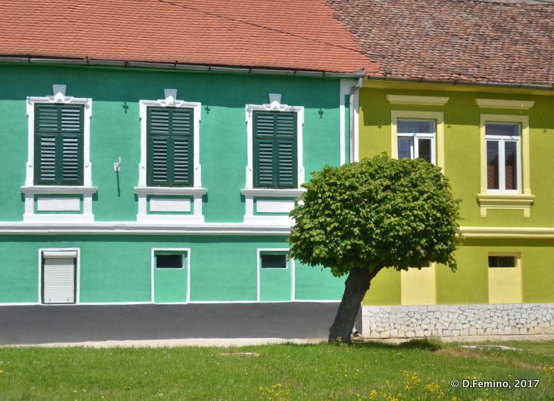 Bright colours houses (Romania, 2017)