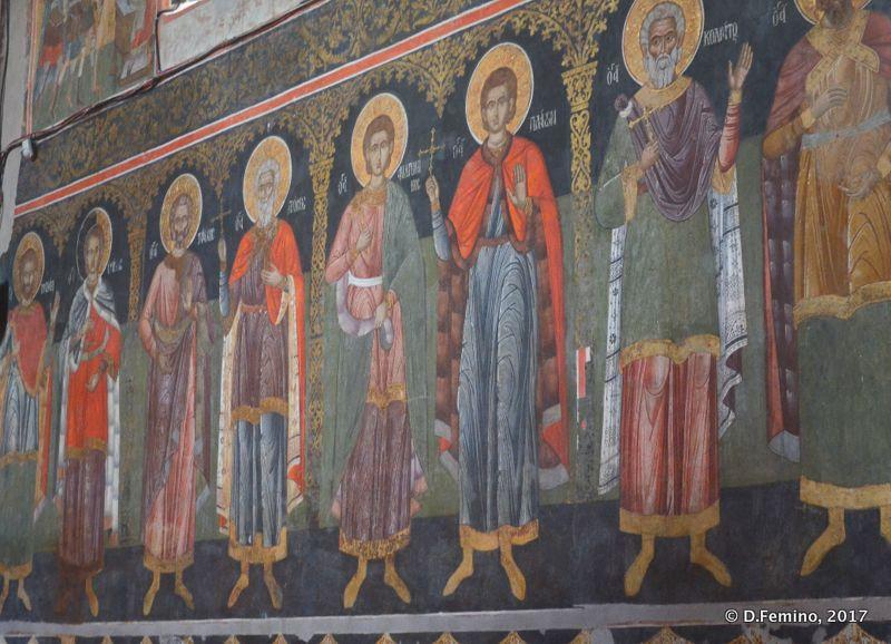 Frescos in Golia monastery (Iași, Romania, 2017)