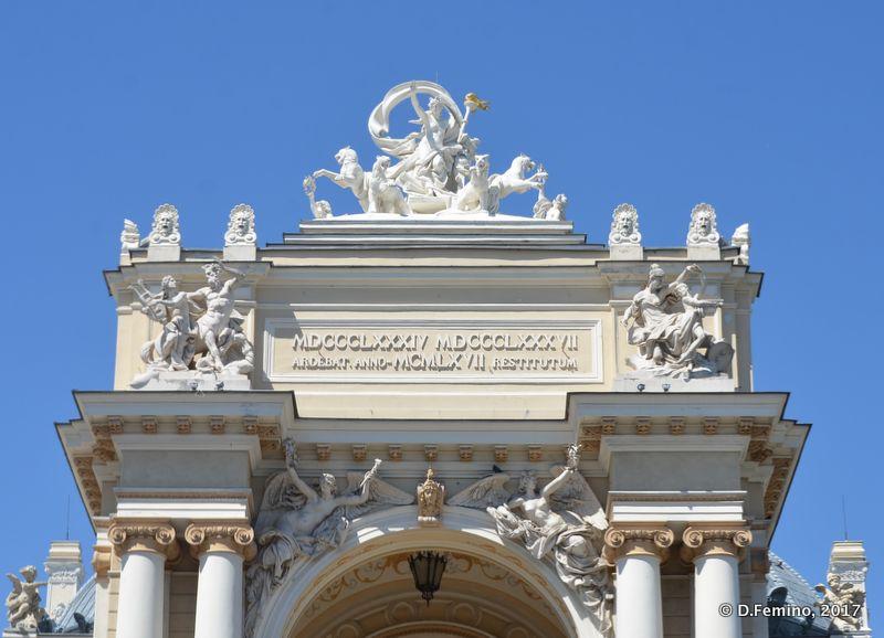 Gate of Opera theatre (Odessa, Ukraine, 2017)