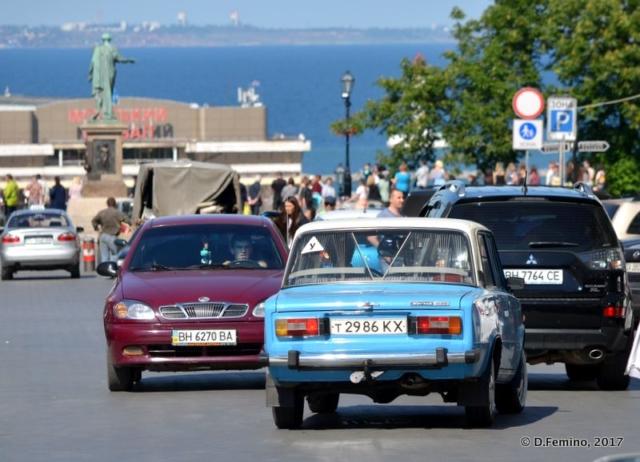 Traffic jam by the sea (Odessa, Ukraine, 2017)