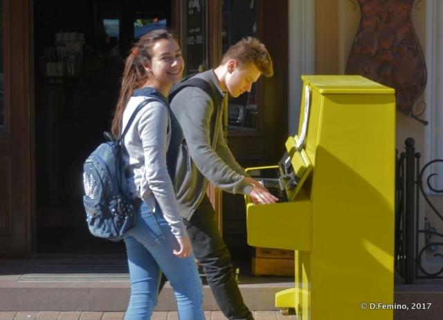 Testing the piano (Odessa, Ukraine, 2017)