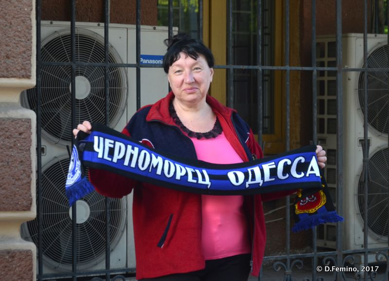 Chernomorets supporter (Odessa, Ukraine, 2017)