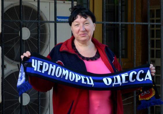 Chernomorets supporter