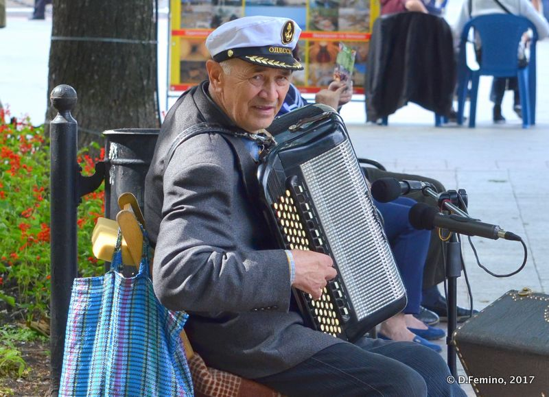 Accordion player (Odessa, Ukraine, 2017)