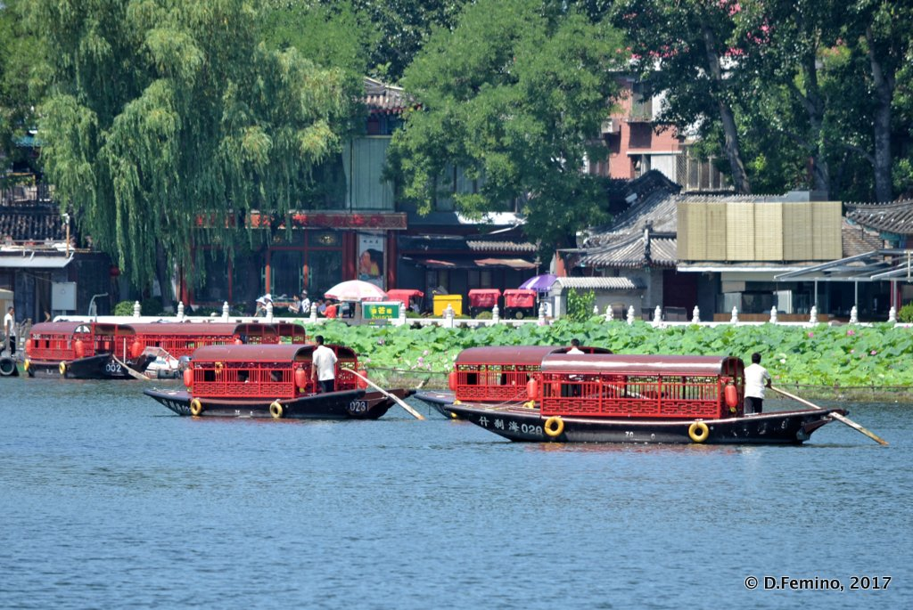 Boats in Qianhai lake