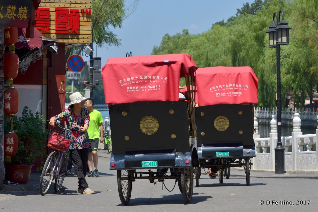 Rickshaws by the Qianhai lake