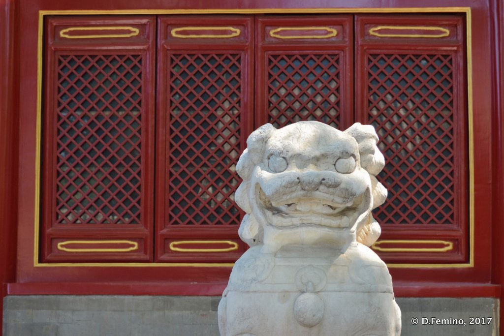 Lion in Huode Zhenjun temple