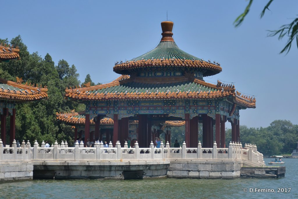 Five dragons pavilions in Beihai park