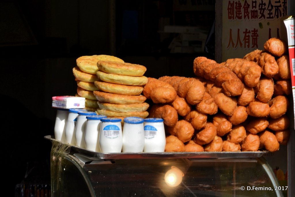 Street food and yoghurt