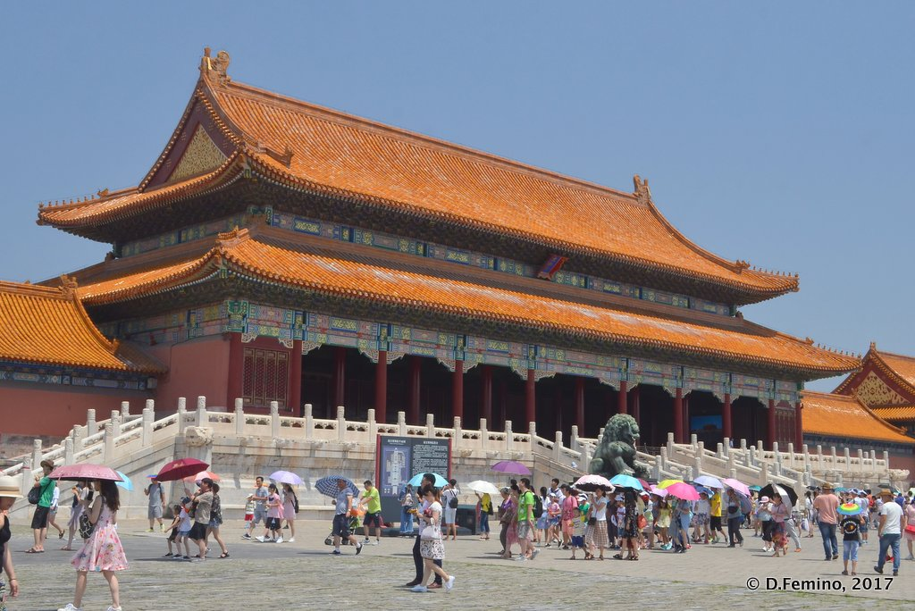 Gate of supreme harmony in forbidden city