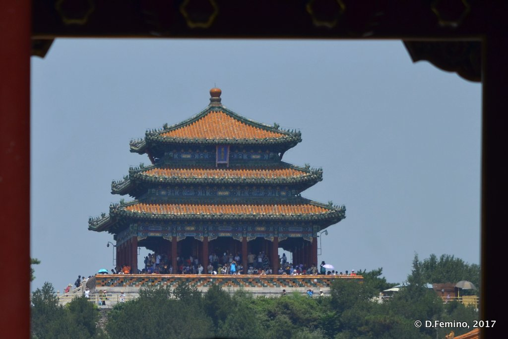 Glimpse in forbidden city