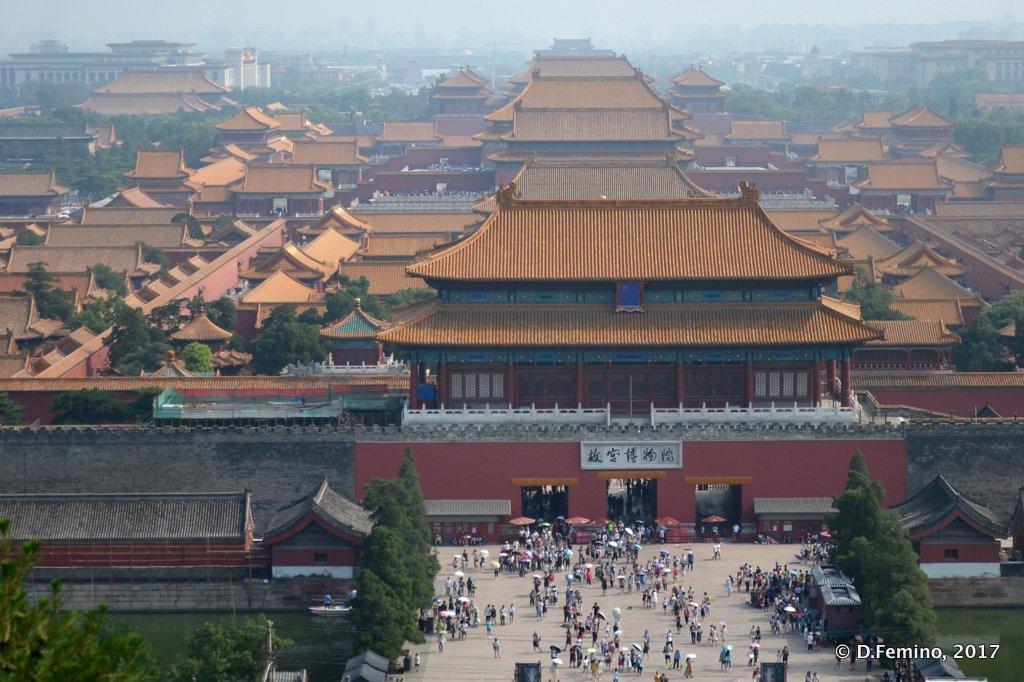 Bird-eye of forbidden city