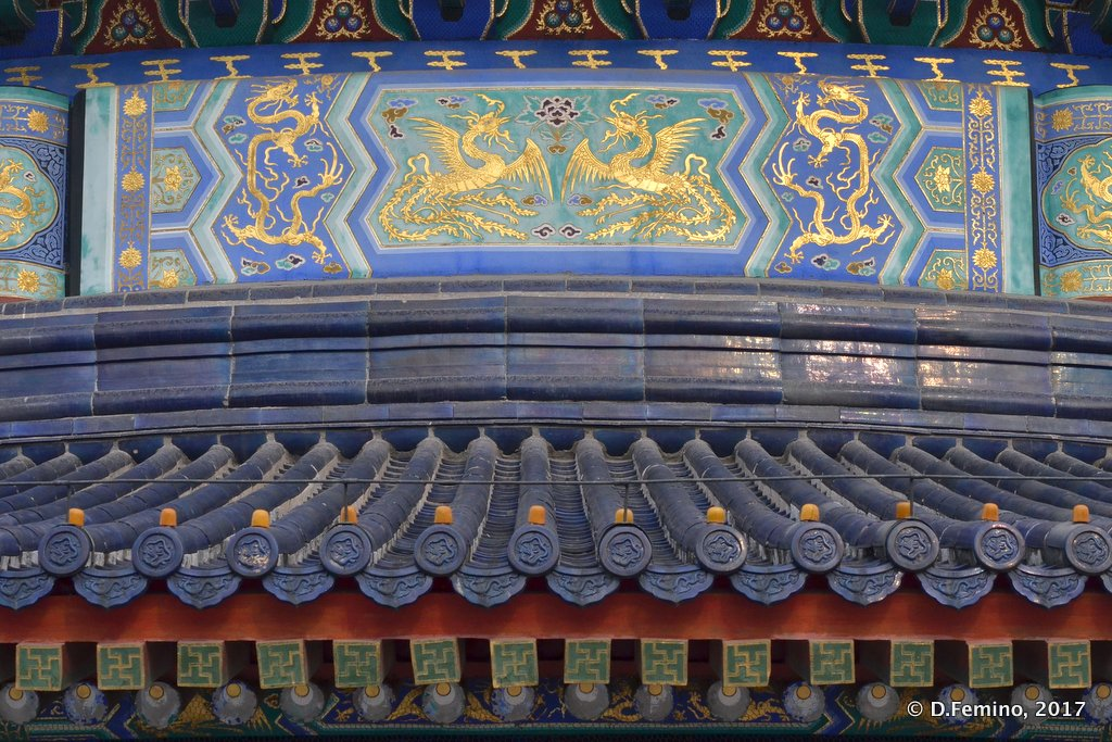 Detail of temple of heaven roof