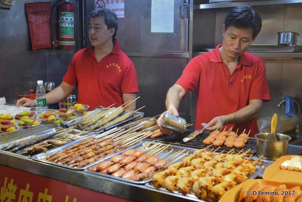 Snacks in Wangfujing market