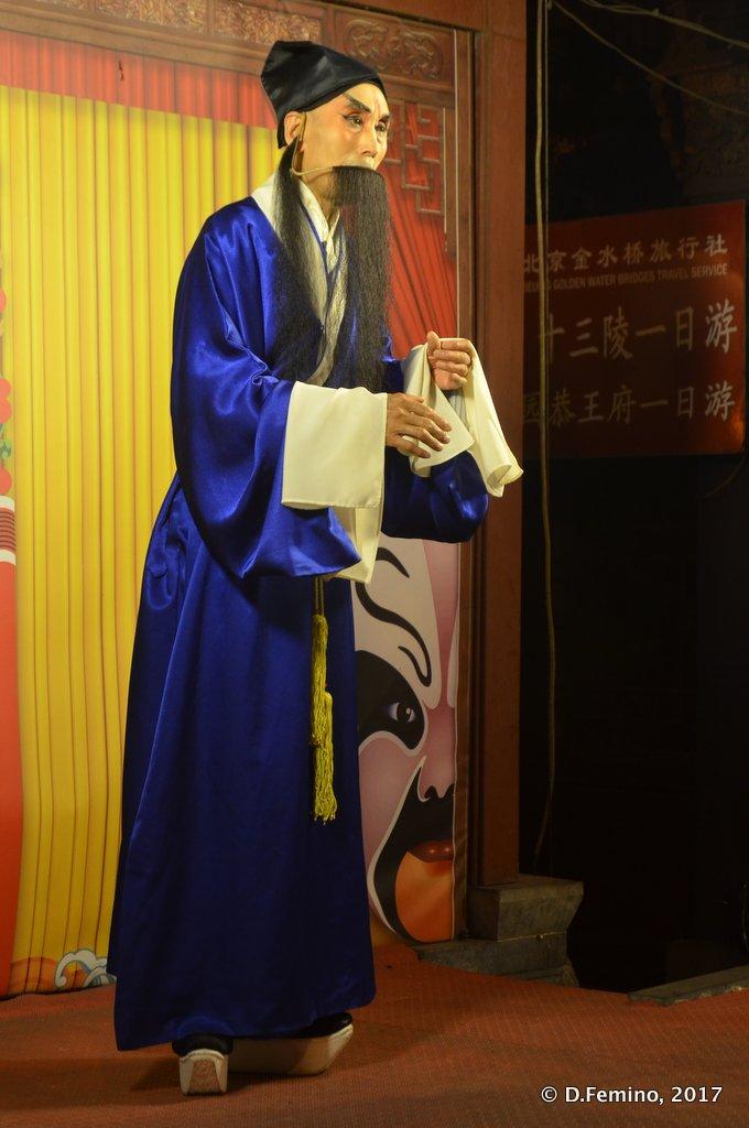 Traditional show in Wangfujing market
