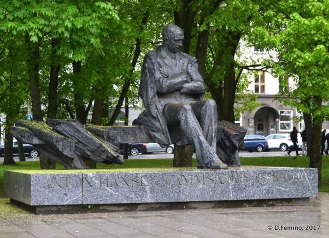 Anton Hansen Tammsaare monument (Tallin, Estonia, 2017)