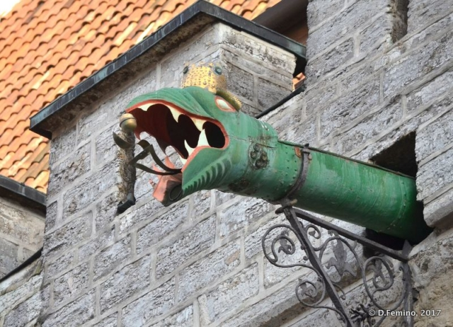 Dragon gutter (Tallin, Estonia, 2017)