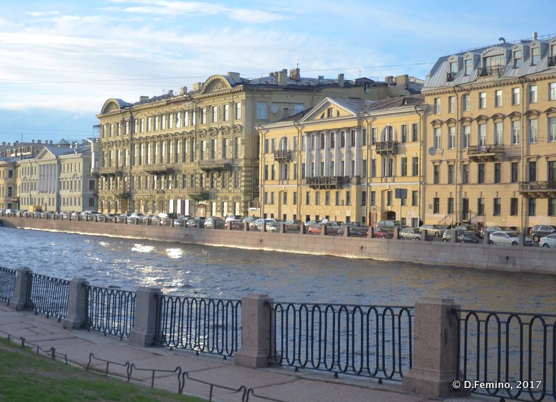 Noble buildings in the centre of the town (Saint Petersburg, Russia, 2017)