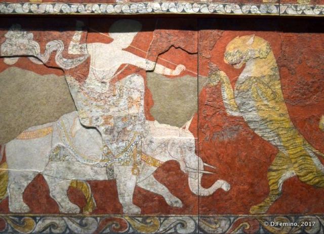 Fresco from ancient Penjikent
