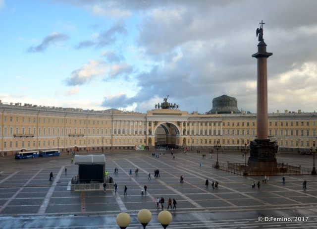 Palace square from a museum's window