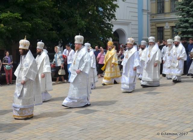Religious ceremony in Saint Michael's monastery (Kiev, Ukraine, 2017)