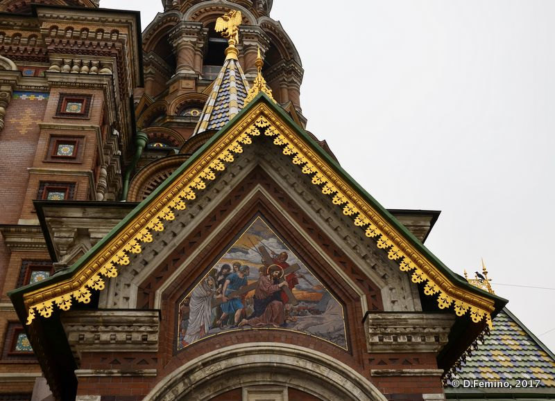 Detail of church of the Saviour on Blood (Saint Petersburg, Russia, 2011)