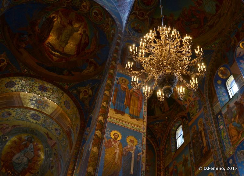 Interiors in church of the Saviour on Blood (Saint Petersburg, Russia, 2011)