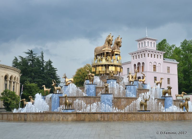 Colchis fountain (Kutaisi, Georgia, 2013)