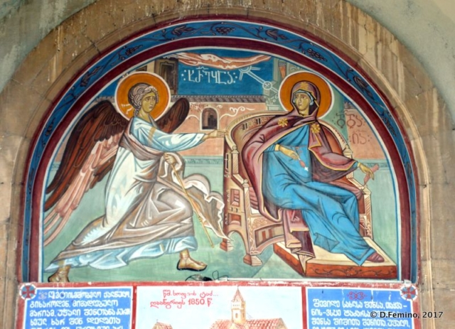 Fresco in Annunciation church (Kutaisi, Georgia, 2013)