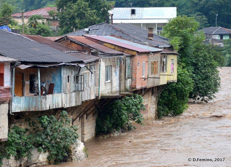 Rioni river raging waters (Kutaisi, Georgia, 2013)