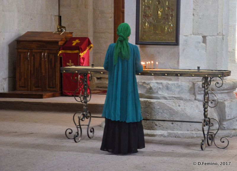 Faithful in Bagrati church (Kutaisi, Georgia, 2013)